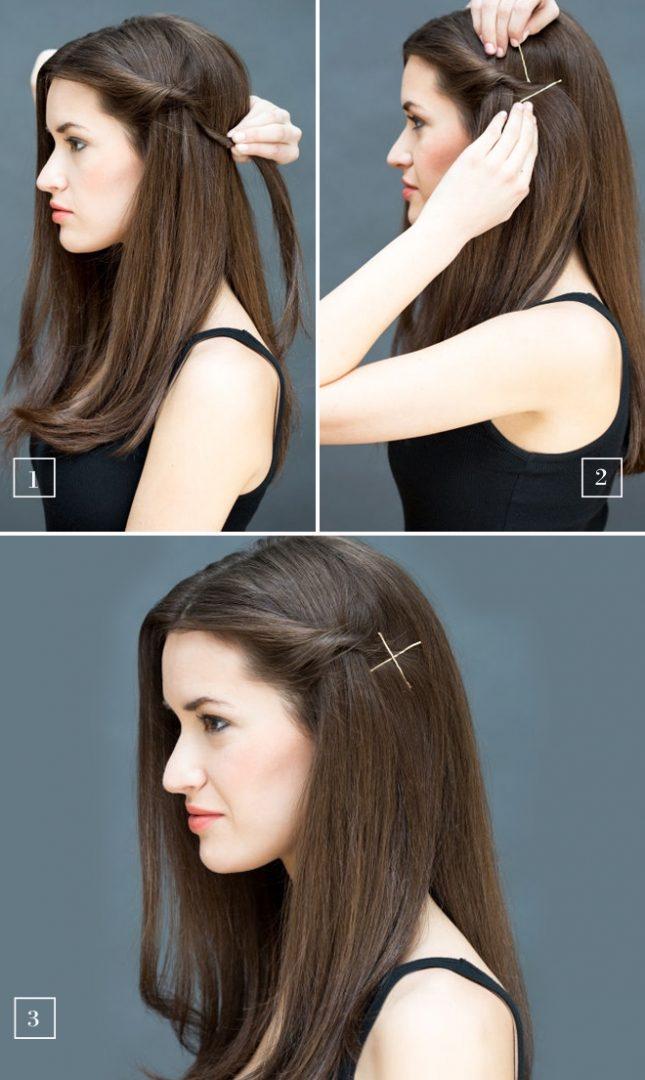 Легкие прически на распущенные волосы своими руками
