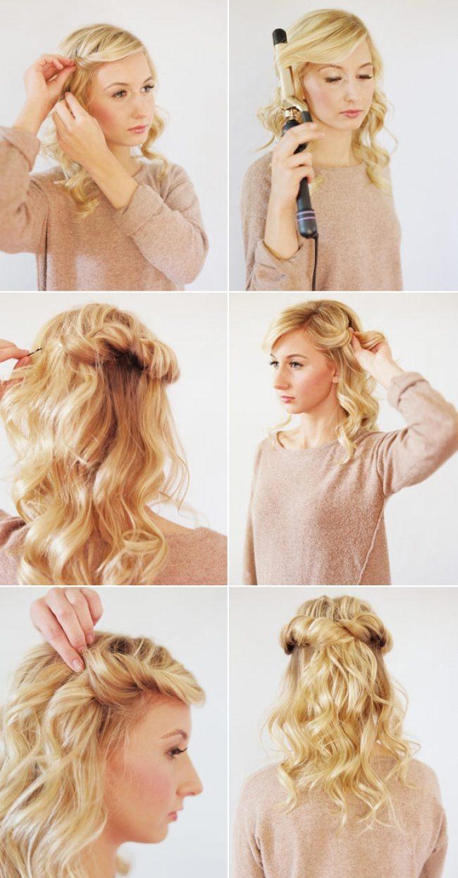 Красивые прически на средний волос в домашних