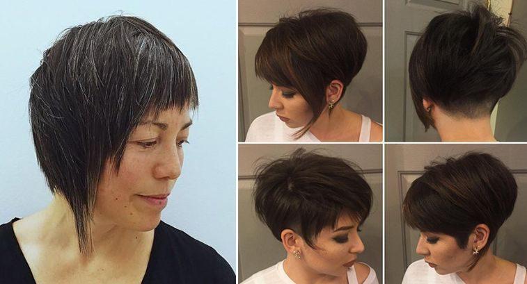 Стрижка асимметрия боб волосы