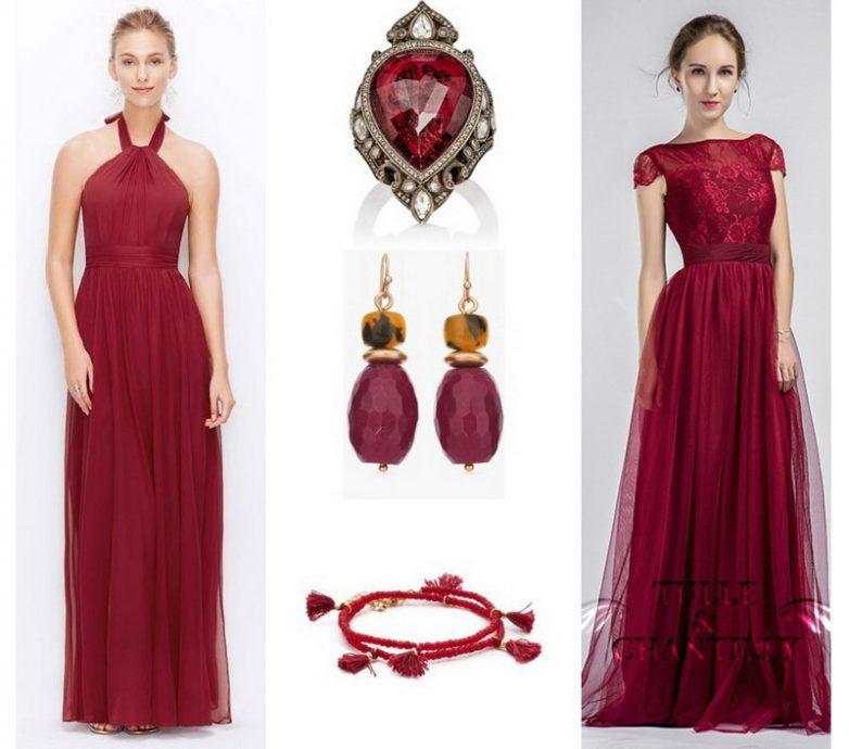 Фото платье цвета марсала