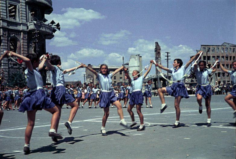 Первый спортивный парад в послевоенном Сталинграде