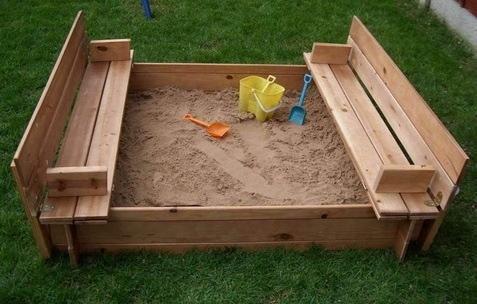 Сделать детскую песочницу своими руками фото