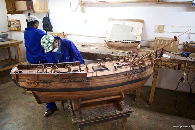 Изготовление моделей парусников