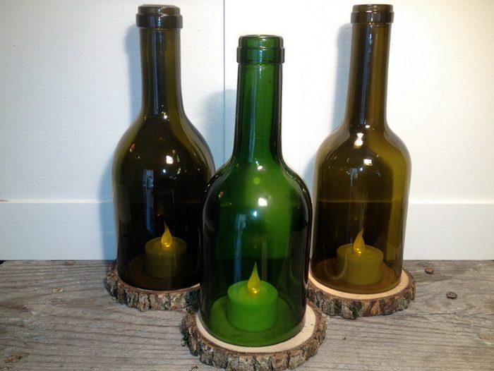 Поделки из стеклянных бутылоккак сделать