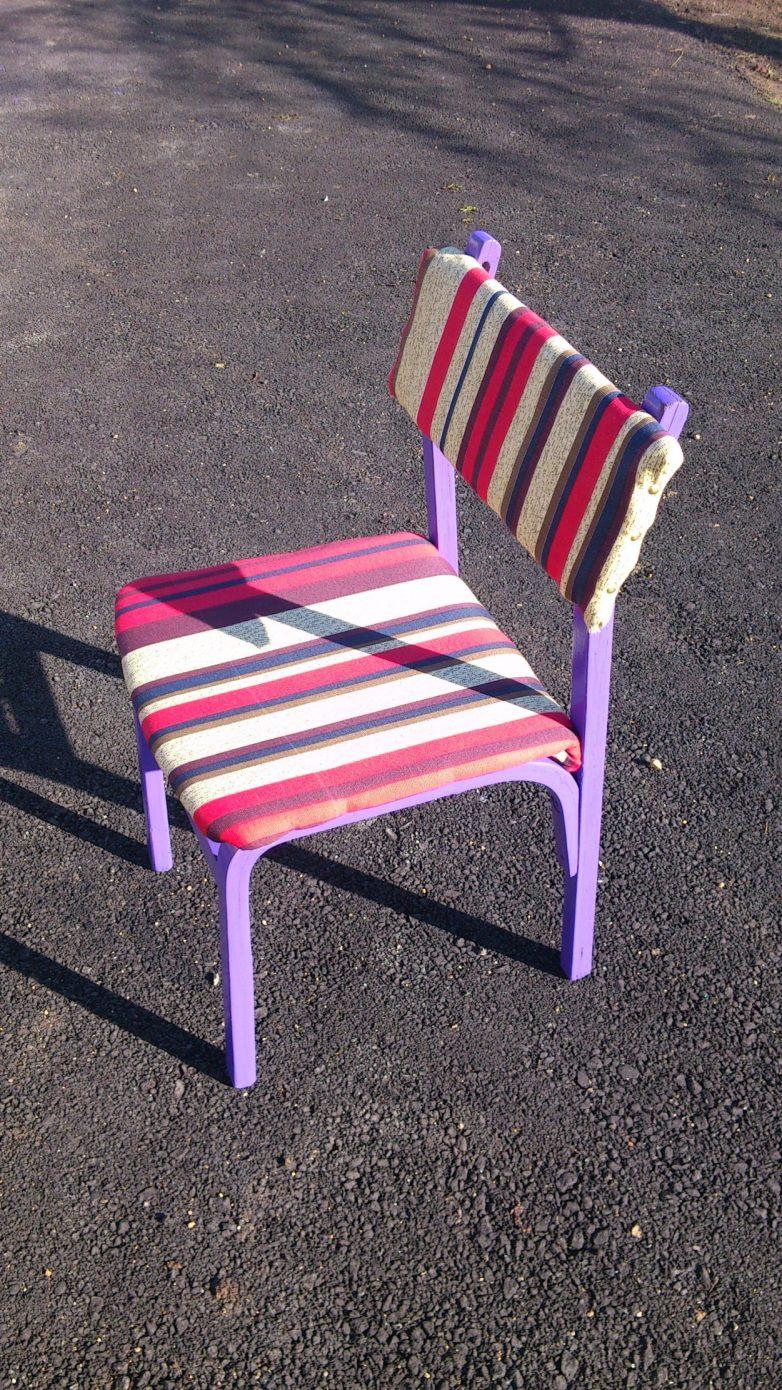 Декор железных стульев своими руками