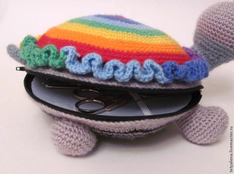 Черепашка с секретом: яркий органайзер своими руками