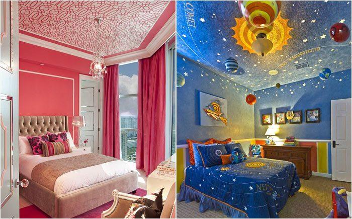 20 потрясающих потолков для детской
