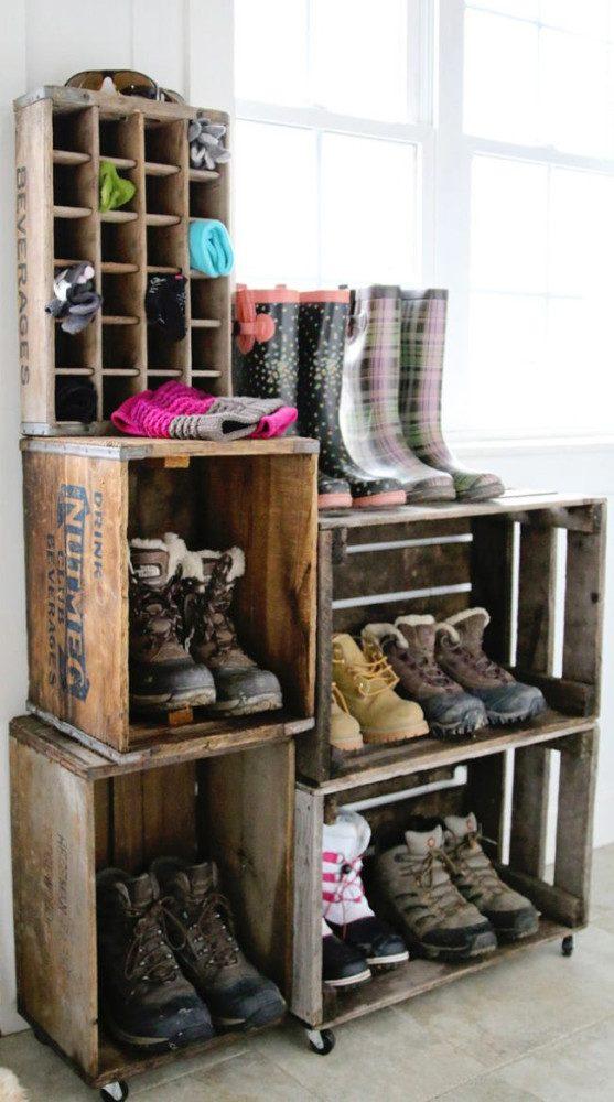 Места хранения обуви своими руками
