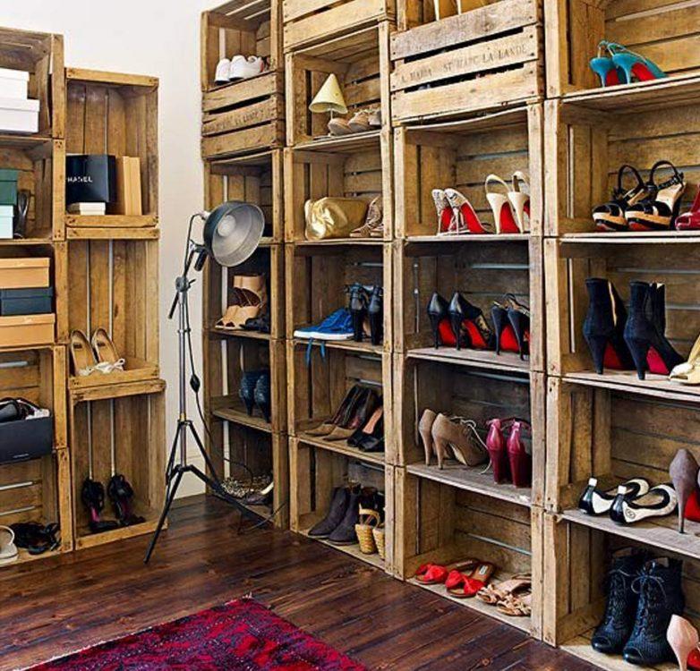 Модели полок для обуви