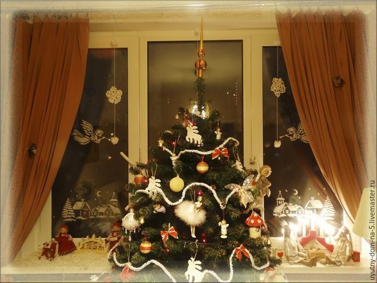 Декорируем окно к Новому году