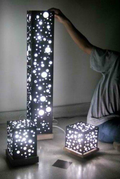 Как сделать своими руками светильник напольный