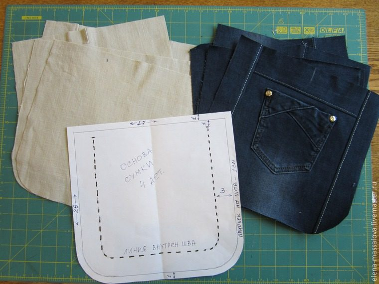 Как своими руками сшить сумку из старых джинсов своими руками выкройки