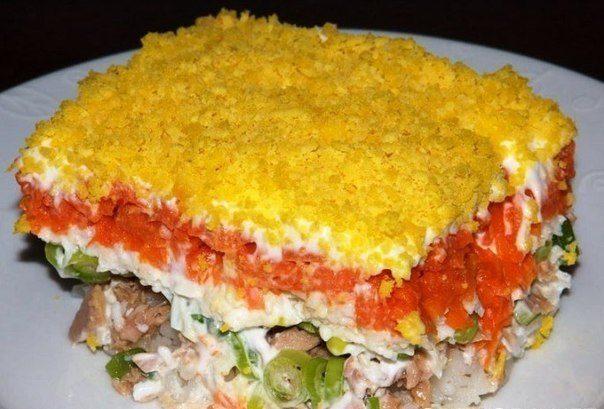 рецепты салатов из отварной форели