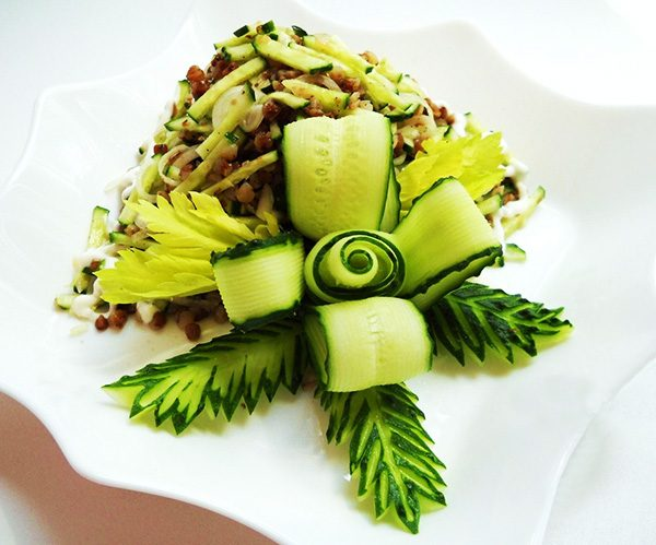 Украшения блюд и салатов