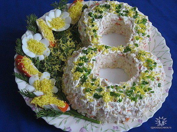 Новогодний салат Овечка : рецепты с фото