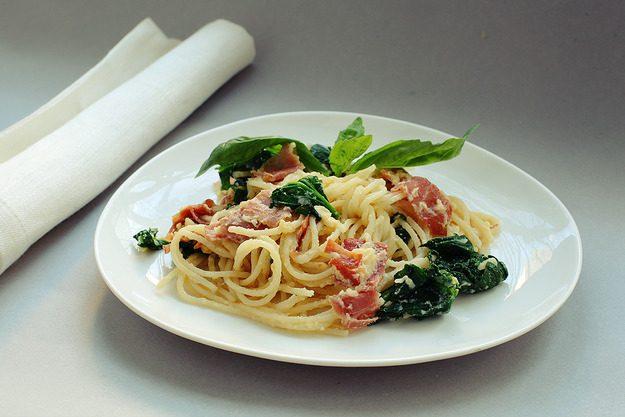 Готовим «Спагетти с ветчиной, вкусно и быстро»