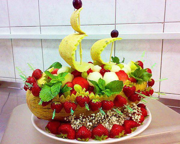 Детская композиция из фруктов своими руками