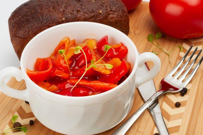 как приготовить лечо из болгарского красного и желтого перца