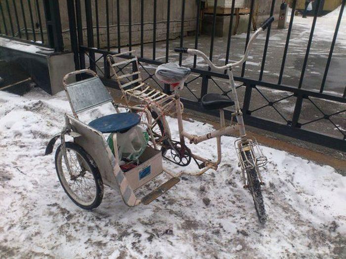 Четырёх колесный велосипед видео