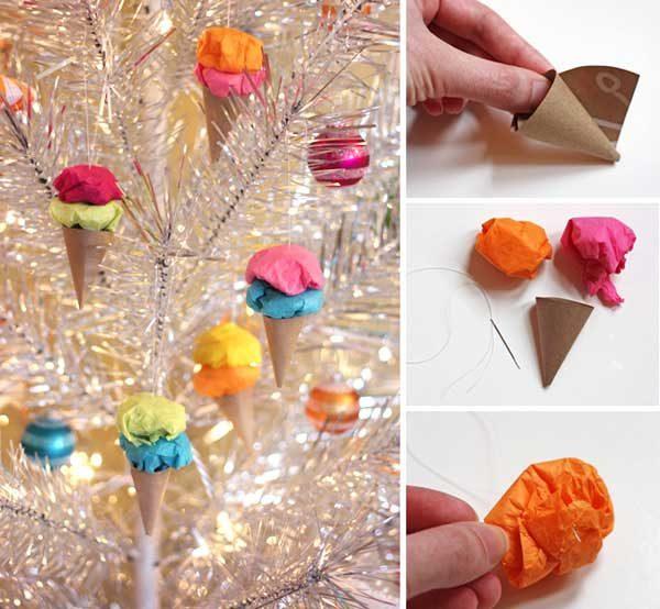 Как сделать ёлочные игрушки своими руками картинки