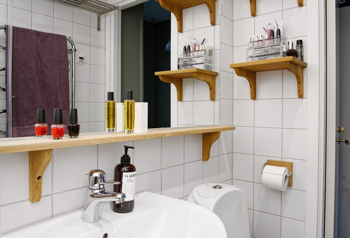 Полка в ванную своими руками из дерева чертежи