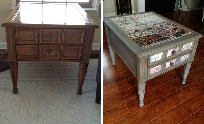 Реставрация старого стола своими руками фото до и после 94