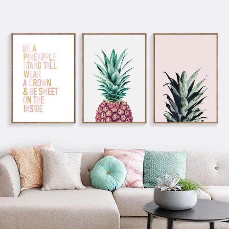 Идеи оформления стены в гостиной на любой вкус