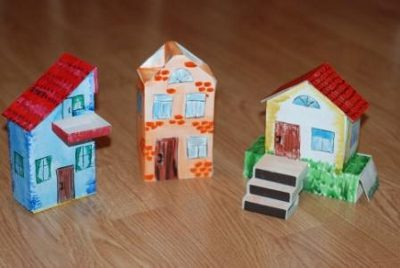 Детский домик для кукол из коробки 104