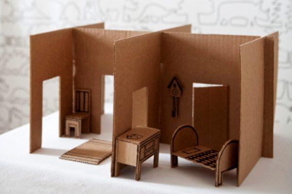 Кукольная мебель из картона своими руками фото