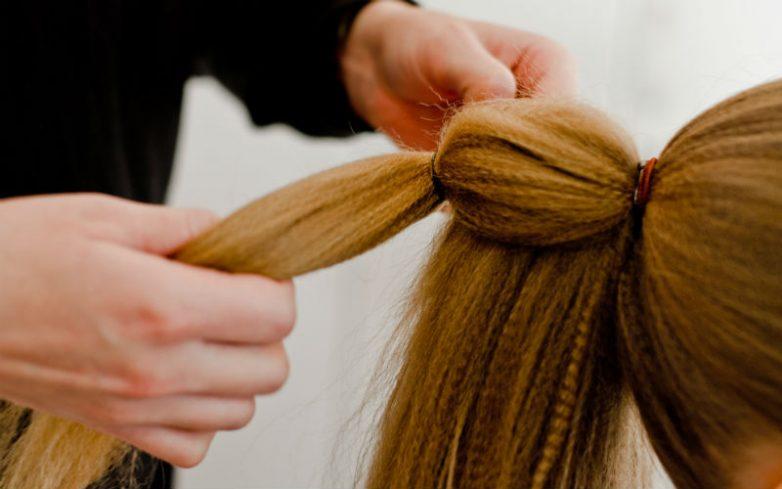 Гофре на длинные волосы пошагово