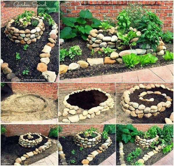 Интересное оформление сада своими руками