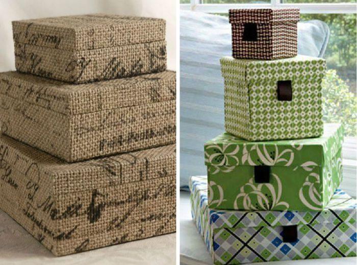 Декор коробок своими руками