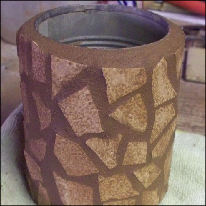 Цементная ваза своими руками