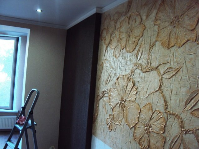 Декоративная штукатурка панно на стену своими руками