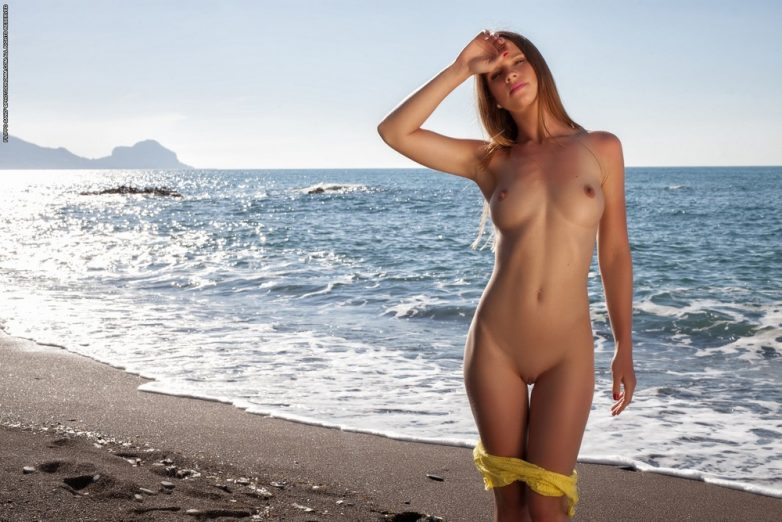 Трахнул телочку на пляже видео узлы мускулов