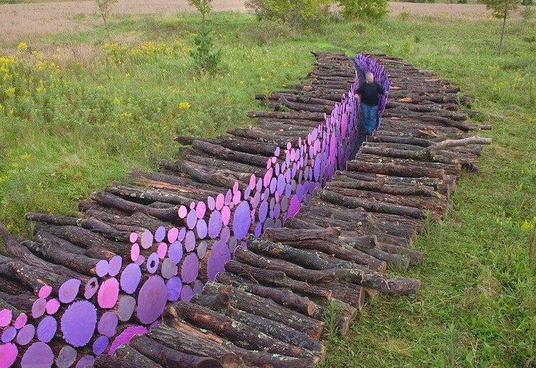 Как поленницу превратить в произведение искусства