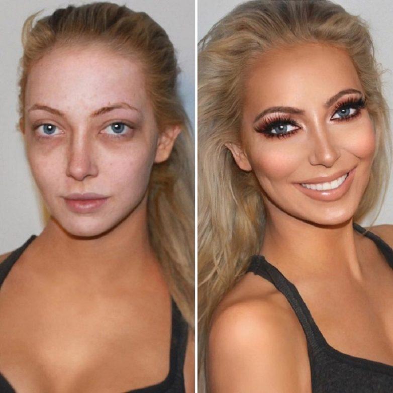 6cb264a7af Вот как макияж может изменить женщину до неузнаваемости