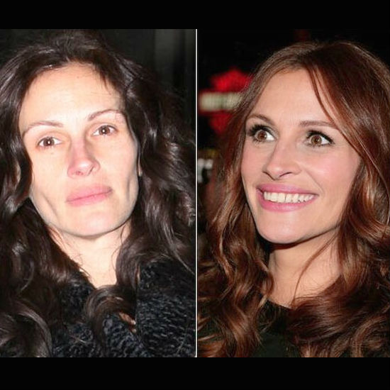 Famous people without makeup