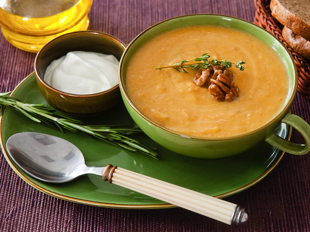 Тыквенный суп в мультиварке