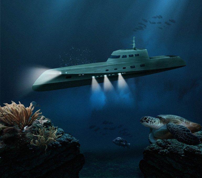 для наблюдения за поверхностью моря с подводной лодки идущей на небольшой