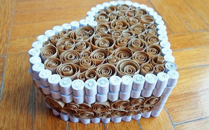 Как сделать сердечко шкатулку из бумаги