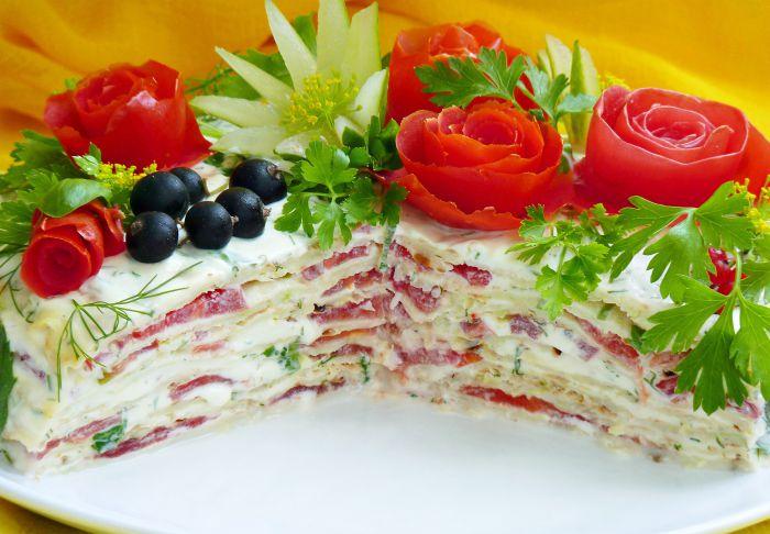 Овощной торт из кабачков рецепт с фото