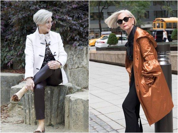 Стильные осенние образы для дам 45 – 60 лет