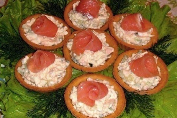 Самые вкусные праздничные закуски в тарталетках