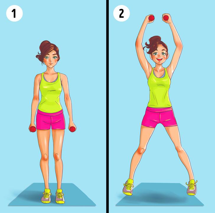Упражнения, которые помогут вам забыть о жировых складках на спине и боках