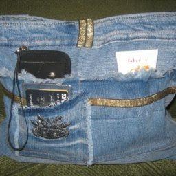 1c098150c057 Косметичка-органайзер из старой джинсовой юбки