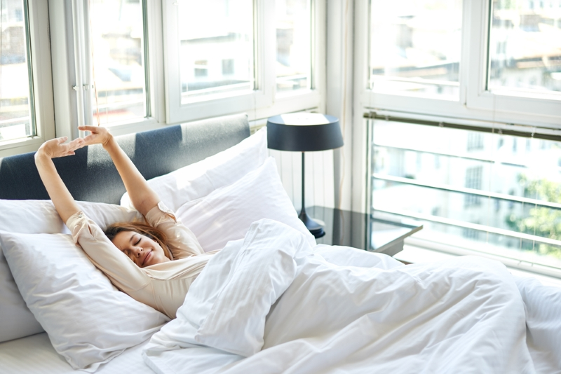 Зарядка прямо в постели