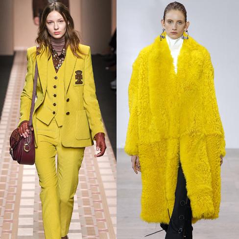 Модные оттенки желтого 2019-2020