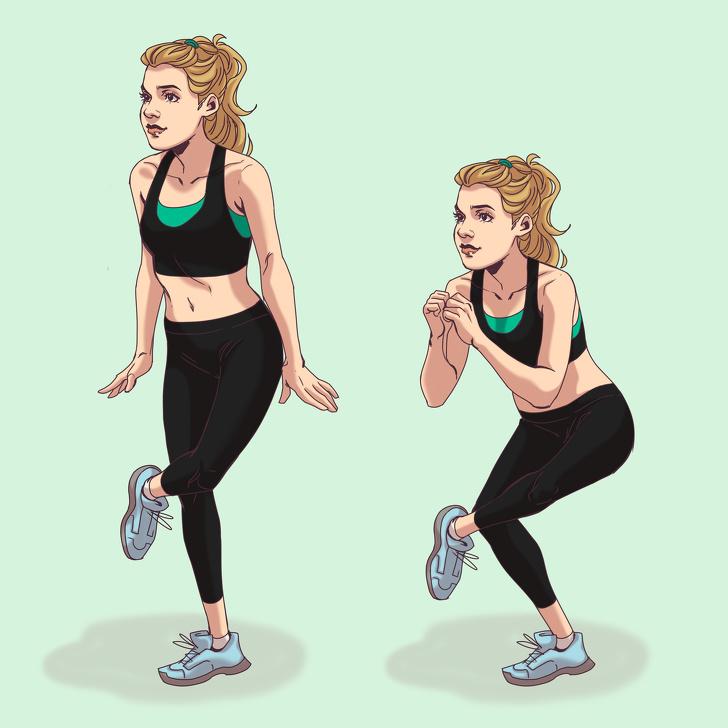 Упражнения для ягодиц от моделей Victoria's Secret