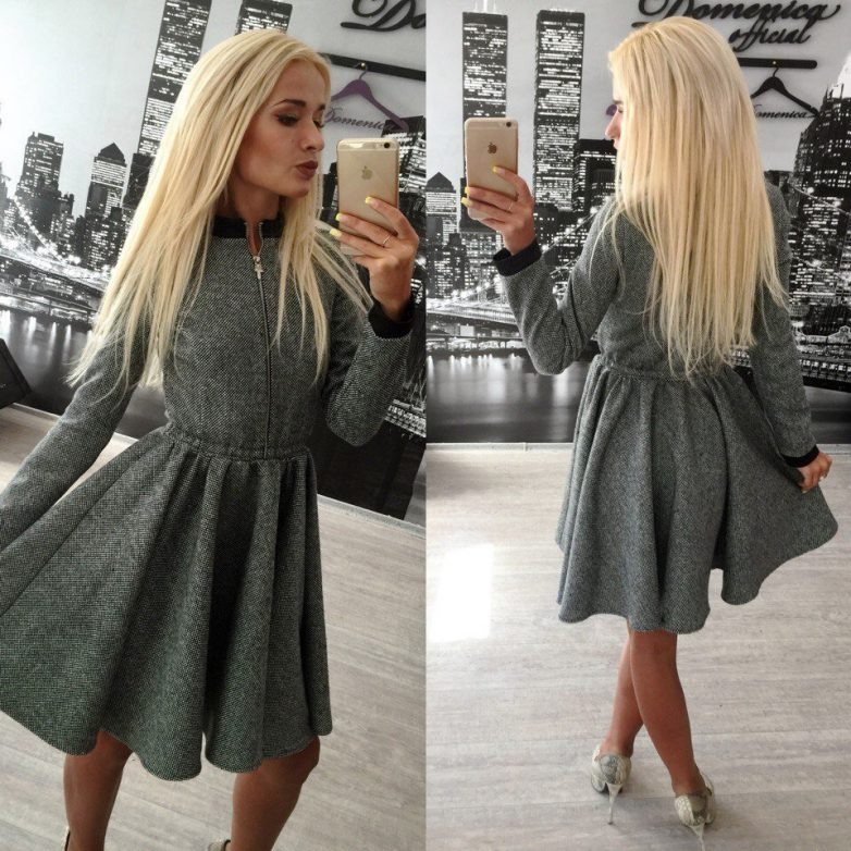 Стильные тёплые платья на предстоящую зиму